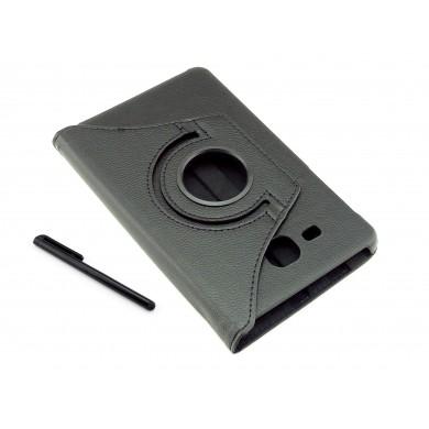 Pokrowiec na tablet Samsung Galaxy Tab A 7.0 T280 T285 - czarne, obrotowe, dopasowane