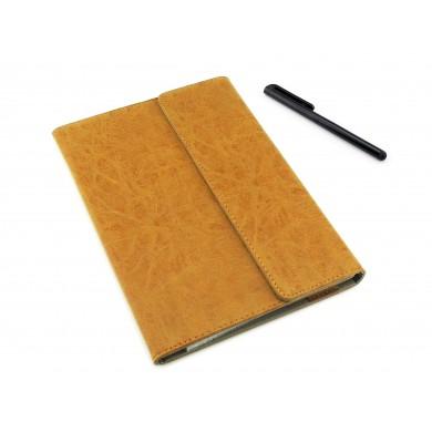 BRĄZOWE etui książkowe na tablet Lenovo Yoga Book 10.1 z możliwością włożenia z klawiaturą