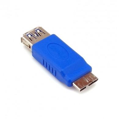 Adapter, przejściówka: USB 3.0 (gniazdo) do micro USB 3.0 (wtyk)