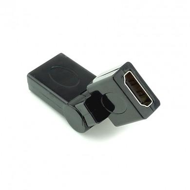 Łącznik HDMI – konektor dwóch kabli HDMI – kątowy 360 stopni, regulowany
