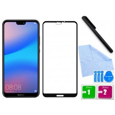 Zaokrąglone szkło hartowane 3D do telefonu Huawei P20 Lite, tempered glass, 9h, w dobrej cenie