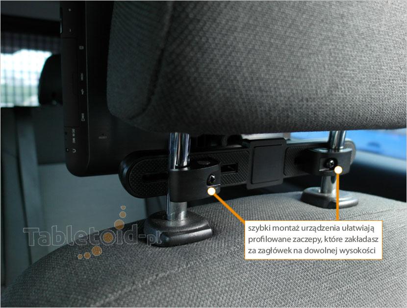 Mocowanie uchwytu do rurek fotela kierowcy lub pasażera