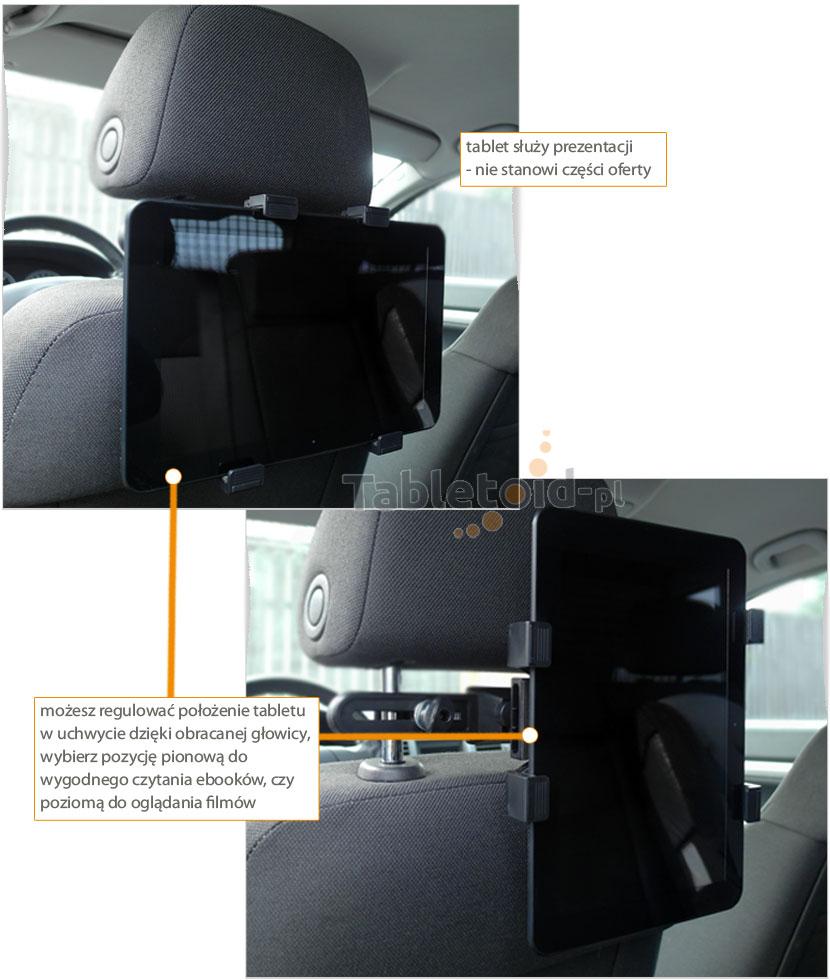Uchwyt do auta - samochodowy na tablet