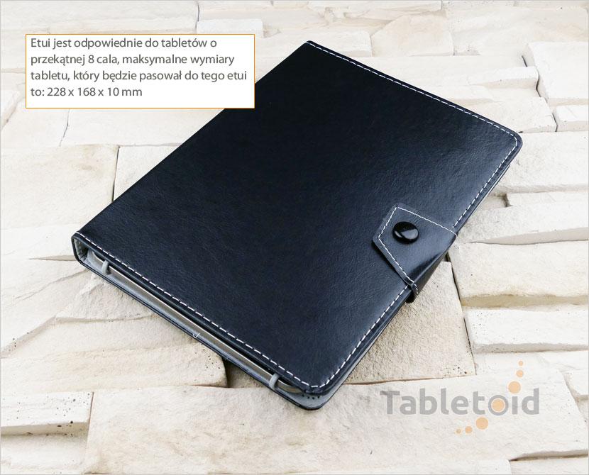 Etui książkowe na tablet 8 cali