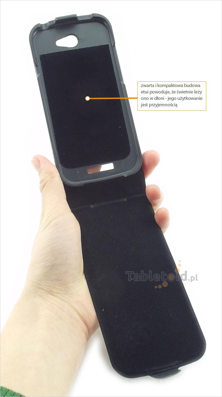 pokrowiec z eko-skóry HTC One M8