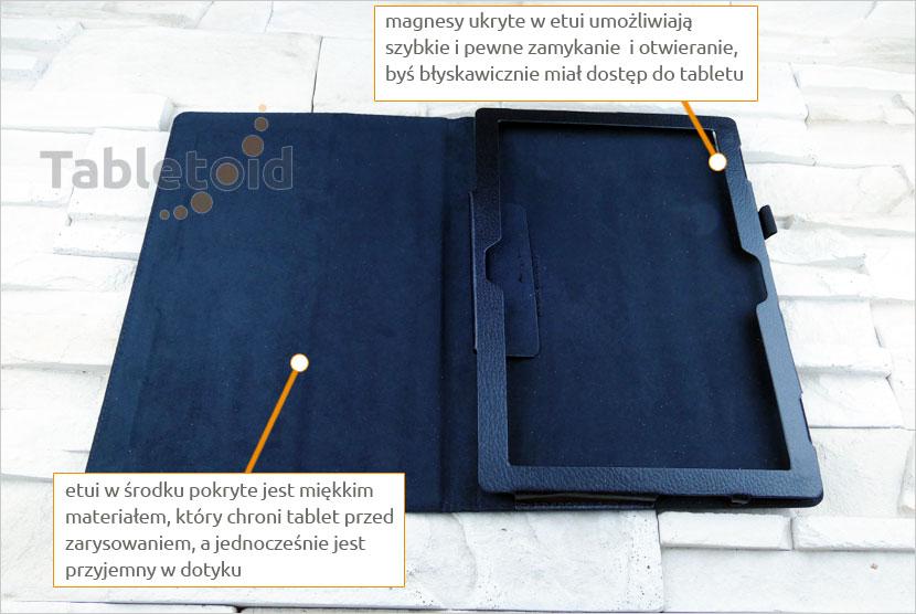 dedykowany futerał na tablet