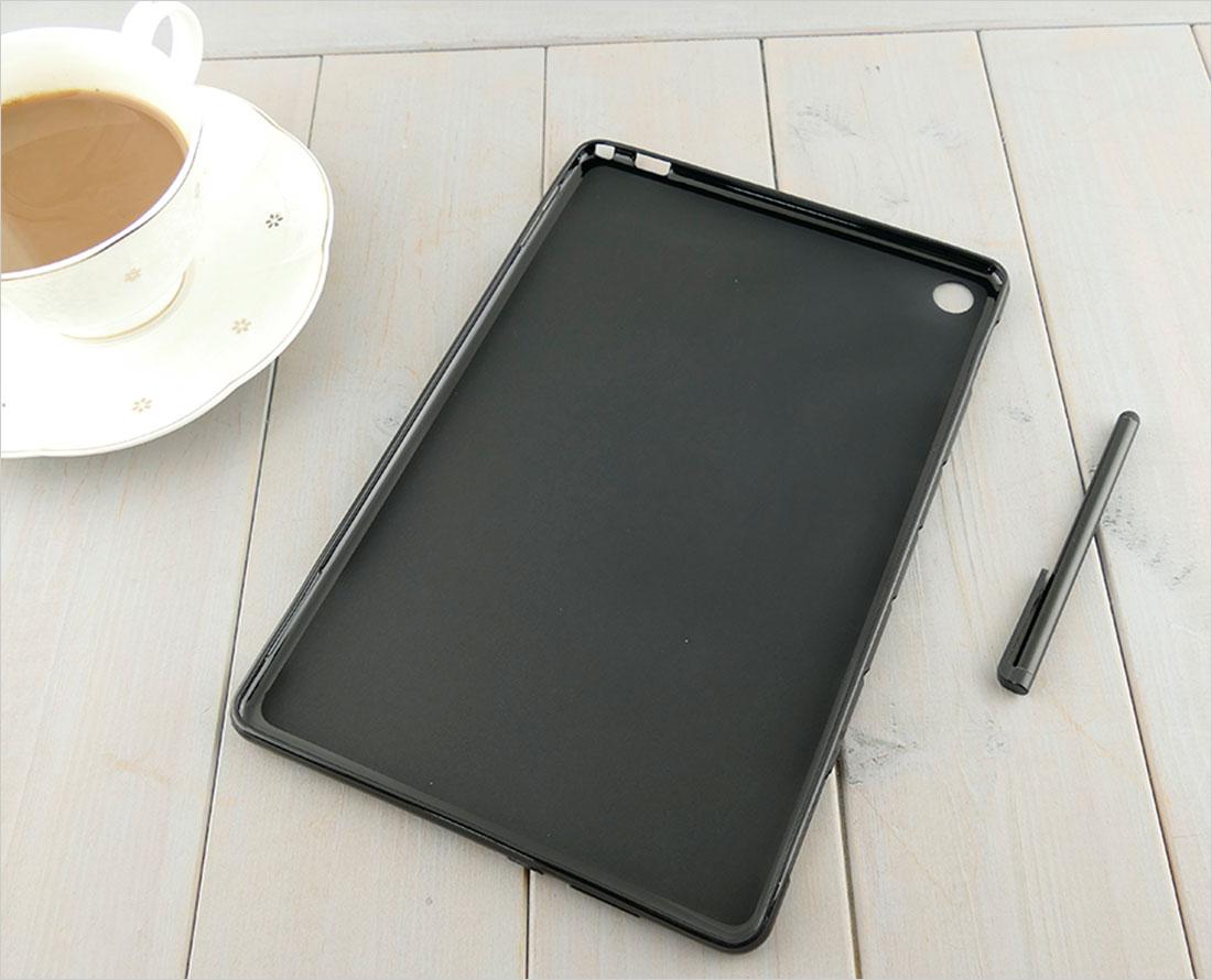 CZARNE silikonowe etui na tablet Huawei MediaPad M5 10 BAH2-W19/L09/W09