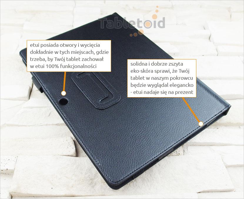 etui książkowe Lenovo Miix 310 10.1 cala z możliwością włożenia z klawiaturą