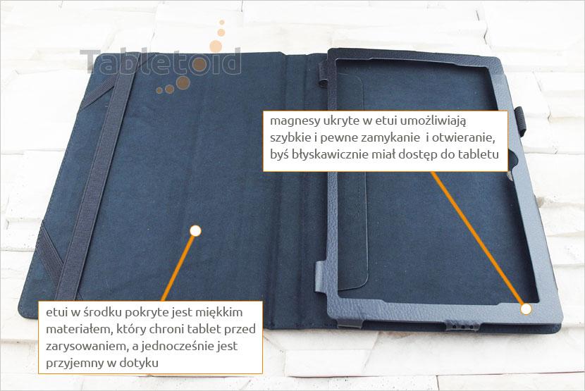 podpórka na tablet Lenovo Miix 310 10.1 cala z możliwością włożenia z klawiaturą
