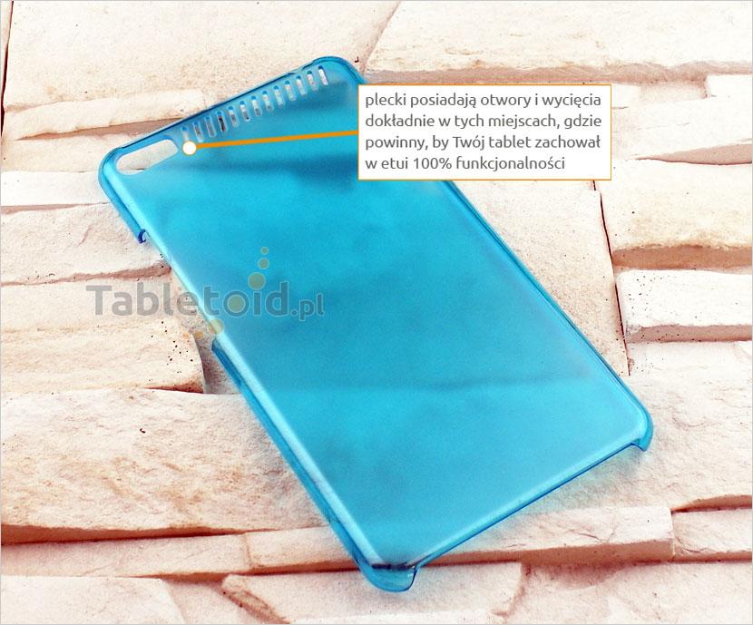 NIEBIESKIE plastikowe plecki na tablet Lenovo PHAB Plus PB1-770N