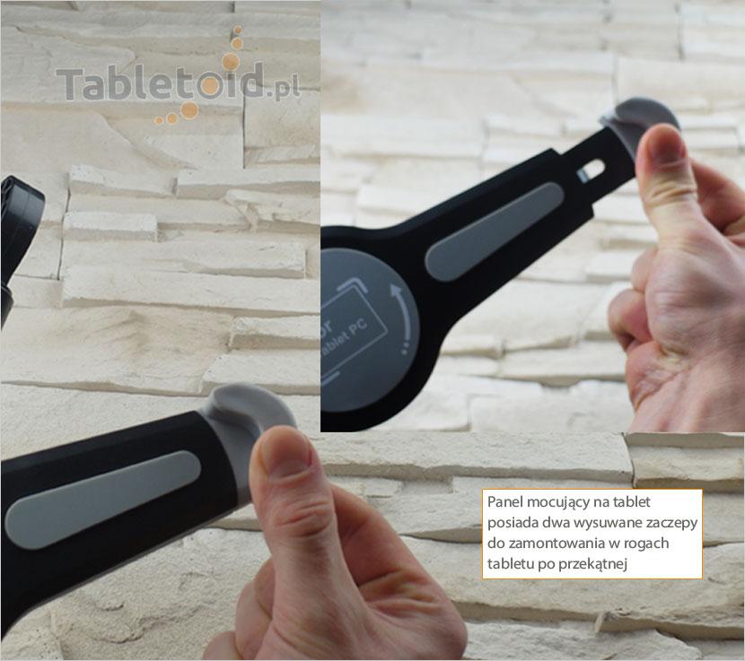 Narożne zaczepy do trzymania tableta