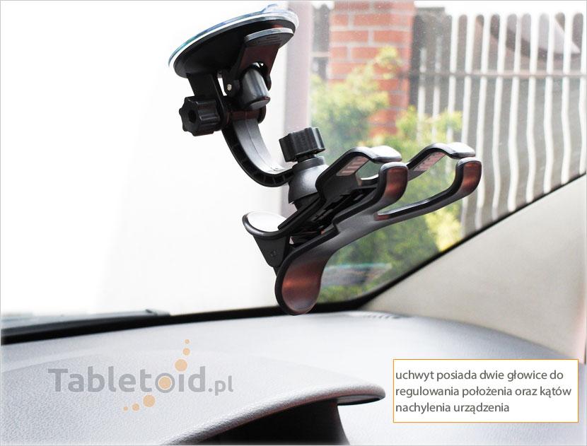 Uchwyt samochodowy na szybę na telefon lub Phablet