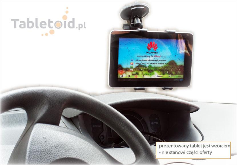 uchwyt na tablet do auta na przyssawce