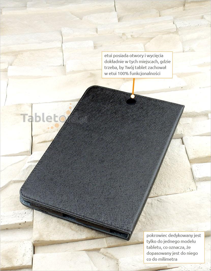 dedykowany pokrowiec książkowy do tabletu