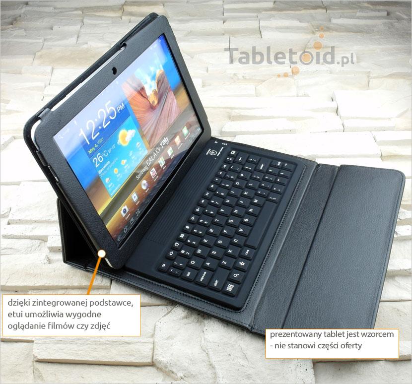 Pokrowiec z klawiaturą na bluetooth do tabletu Samsung Tab 1 Tab 2 P7510 P7500 P5100
