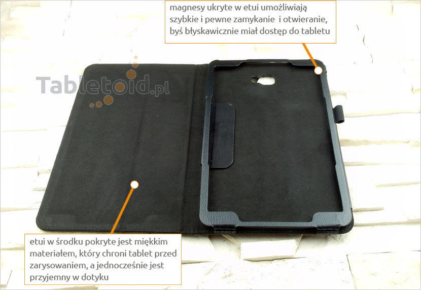 ładny pokrowiec na tablet Samsung Galaxy Tab A6