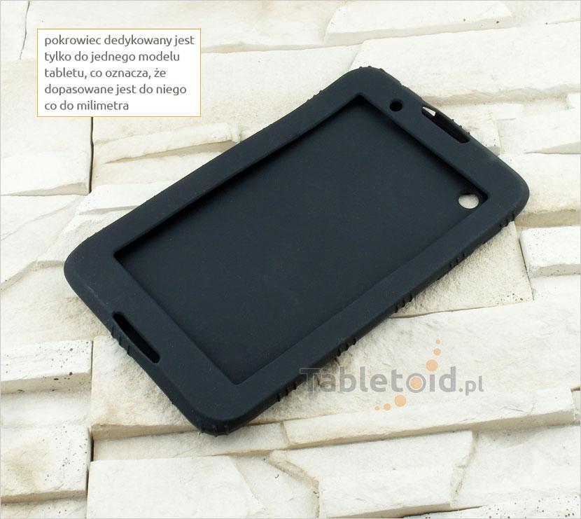 CZARNE silikonowe etui do tabletu