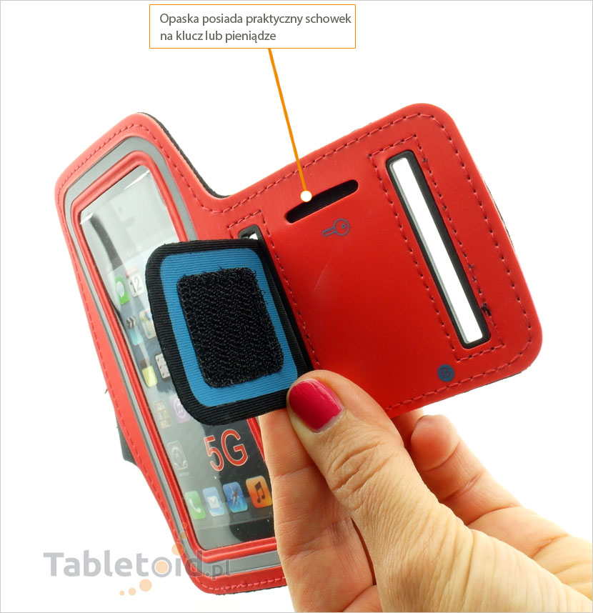 modna opaska na telefon do biegania na Apple iPhpne 5