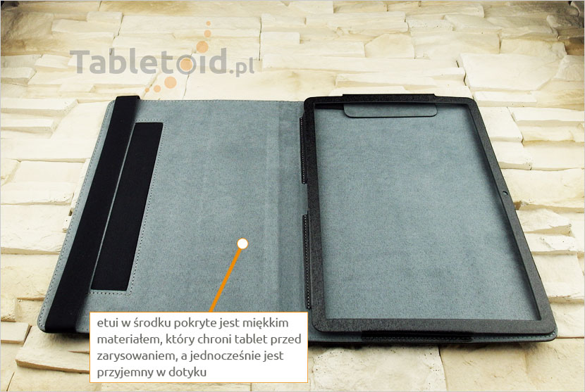 elegancki pokrowiec na tablet