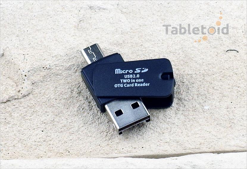 Czytnik kart mikro SD - mikoro USB 2.0 2w1