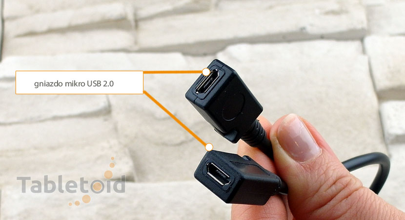 łącznik do kabli mikro USB