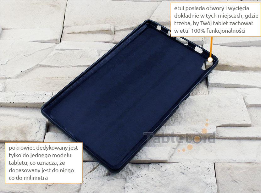 etui silikonowe na tablet lenovo tab3 8plus p8 8.0