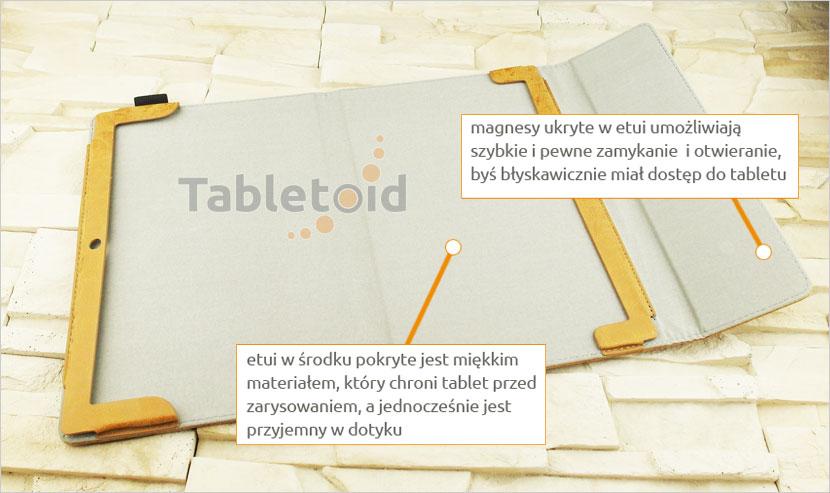 etui na tablet z eko-skóry Lenovo Yoga Book 10.1 z możliwością włożenia z klawiaturą