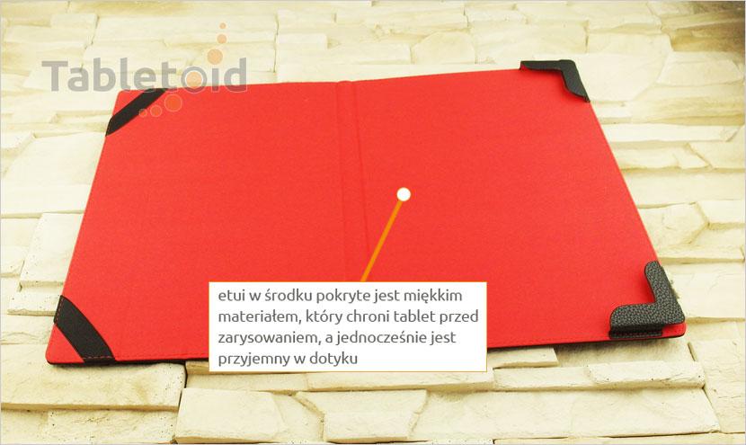 etui na tablet z eko-skóry Lenovo Yoga  A 12 z możliwością włożenia z klawiaturą
