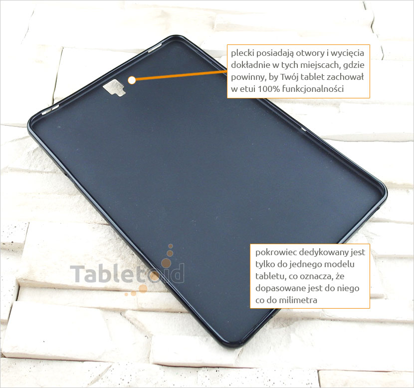 silikonowego plecki do tabletu Samsung Galaxy Tab S3 9.7 cala T820 T825