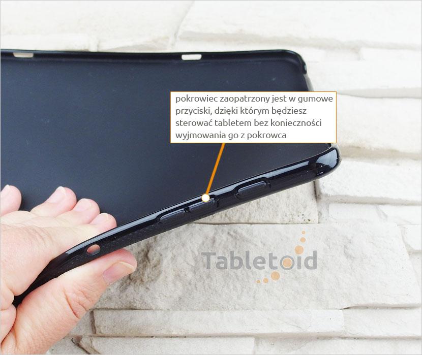 przyciski w silikonowym etui do tabletu Samsung Galaxy Tab S3 9.7 cala T820 T825