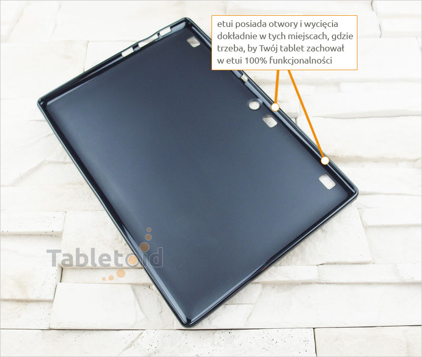 tylna ścianka silikonowego etui do Lenovo TAB3 10 Plus TB3-X70L