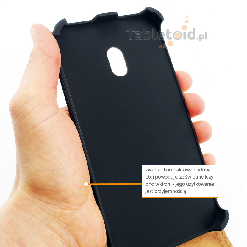 Pokrowiec stabilnie trzymany w dłoni do HTC Desire 700