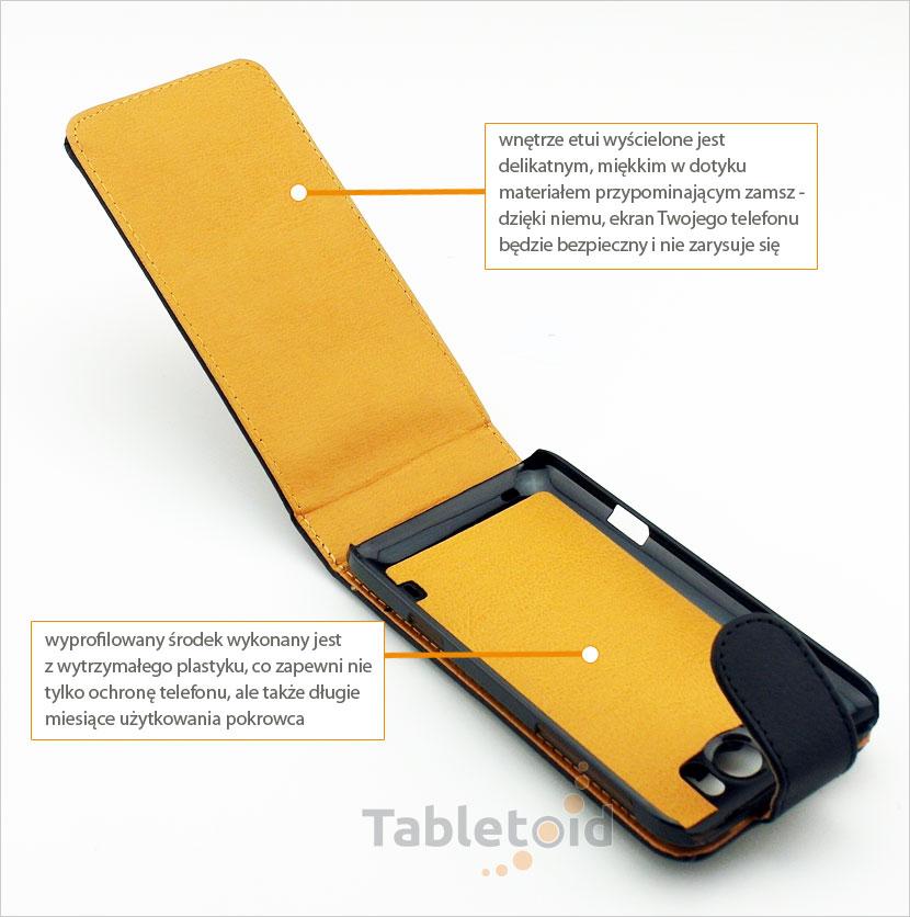 elegancki futerał na smartfon HTC Titan X310E