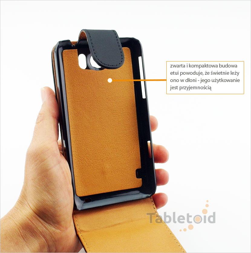 pokrowiec z eko-skóry na telefon HTC Titan X310E