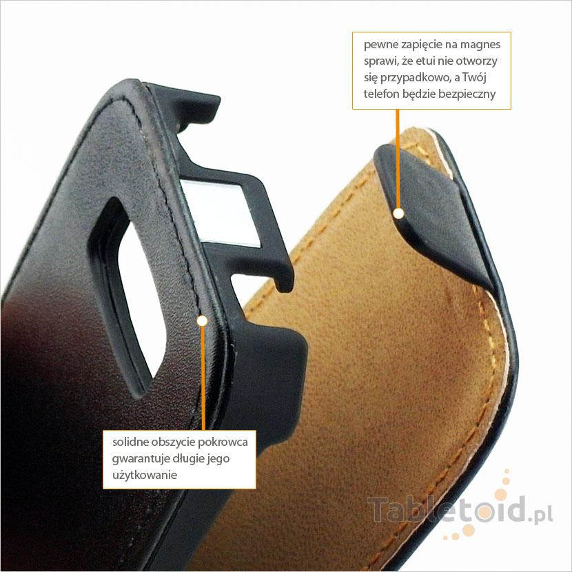 Solidne obszycie futerału do telefonu Nokia Asha 306