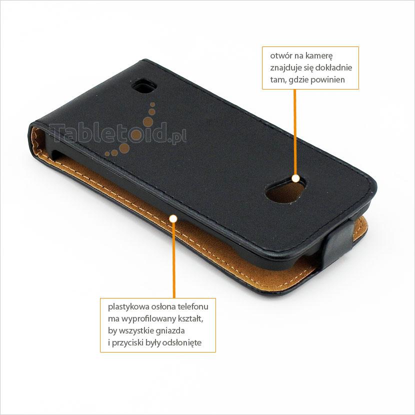 Elegancki pokrowiec ze skóry ekologicznej na telefon LG L50 Sporty