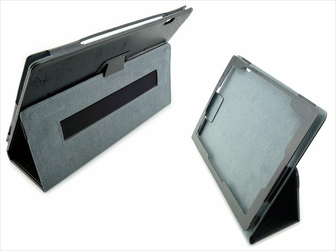 CZARNE etui zamykane na tablet Lenovo MiiX 5 Pro z możliwością włożenia z klawiaturą