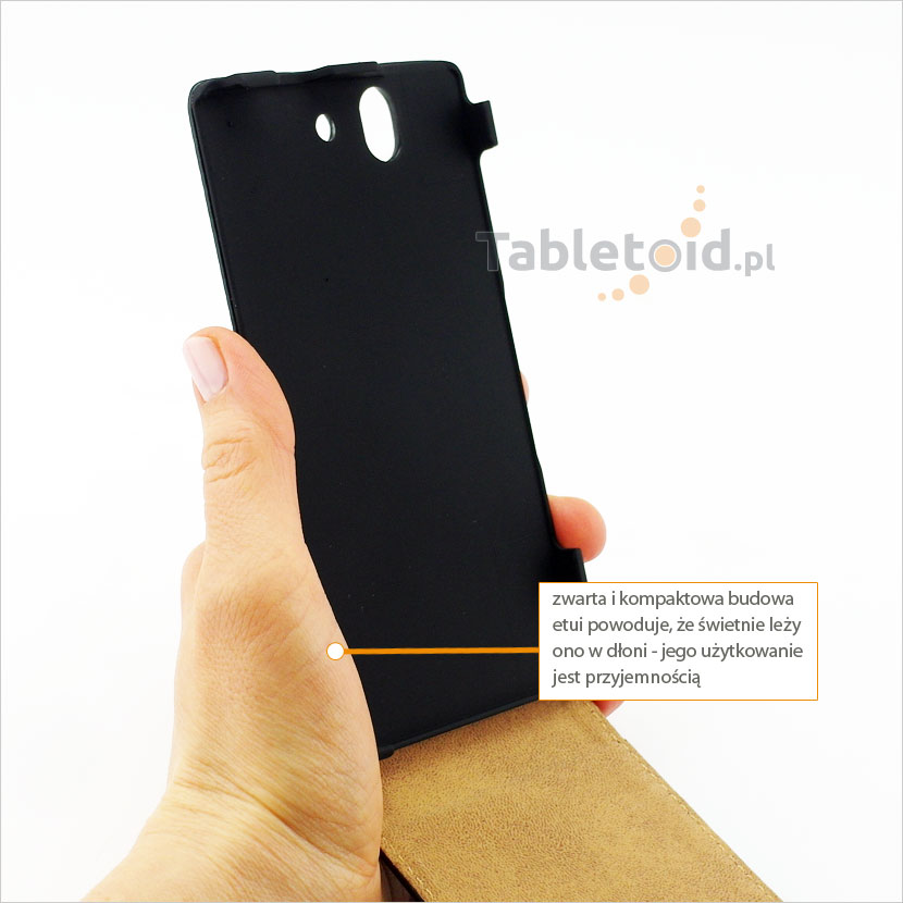 Kabura z ekologicznej skóry do telefonu Sony Xperia Z