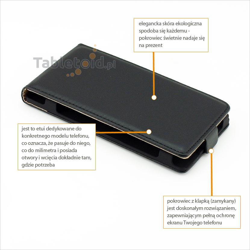 Eleganckie i praktyczne etui zamykane do telefonu Sony Xperia Z