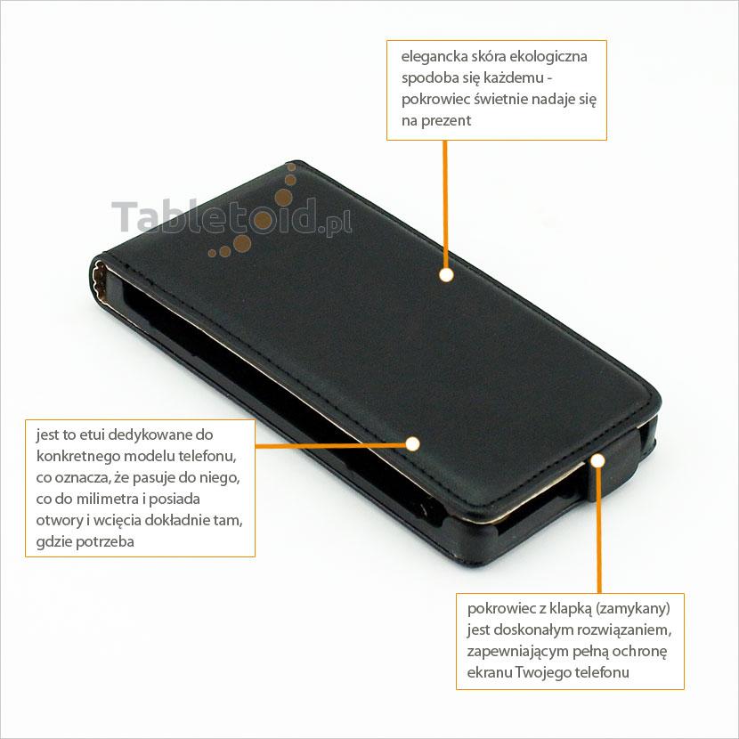 Pokrowiec zamykany do telefonu Sony Xperia L