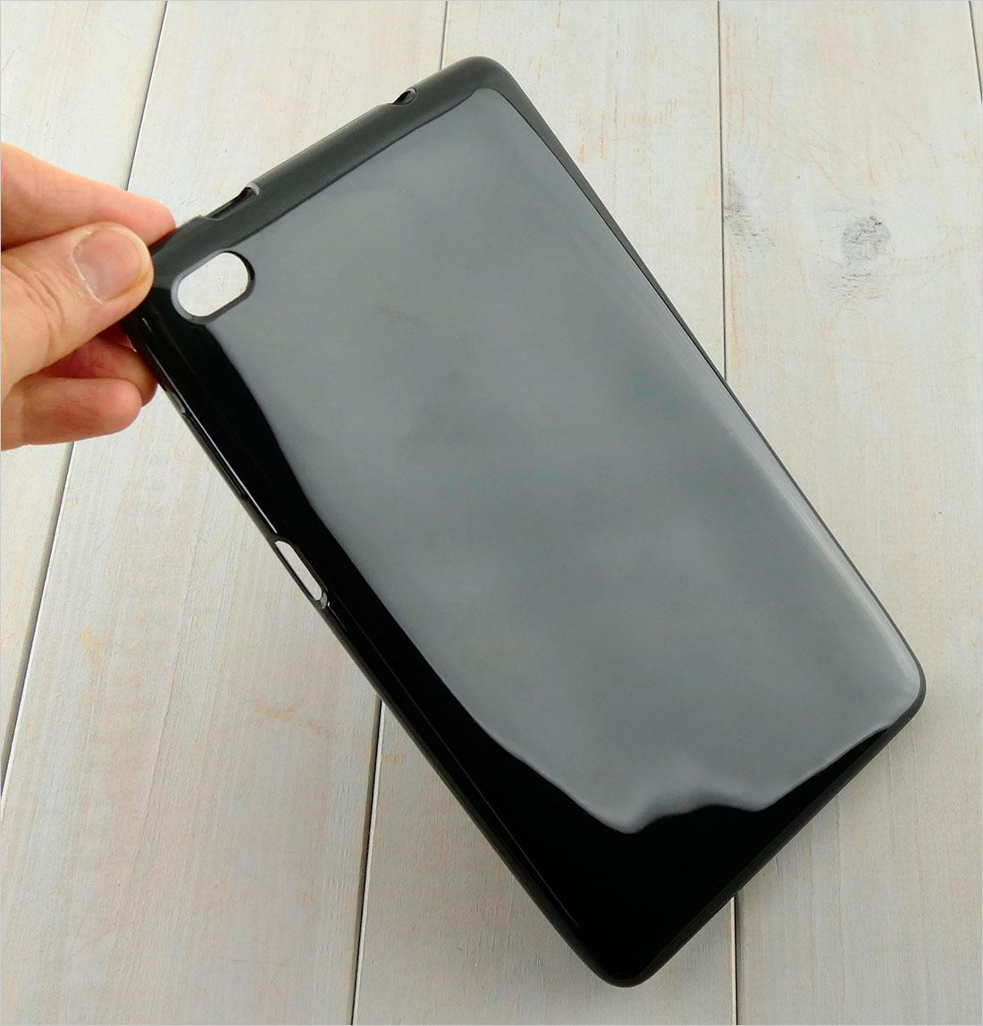 zabezpieczenie tabletu CZARNE etui silikonowe SLenovo TAB E7 TB-7104F TB-7104