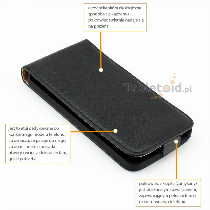 Pokrowiec z klapką odpowiedni do telefonu LG L Bello D331, L80+