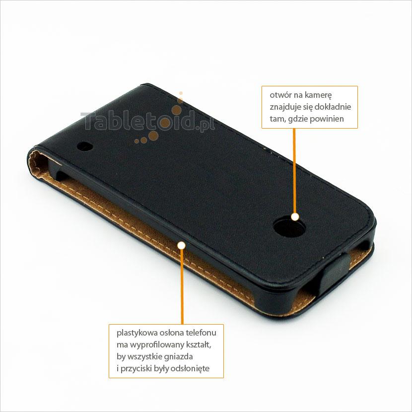 Solidnie wykonany pokrowiec przeznaczony do Nokia Lumia 630, 635