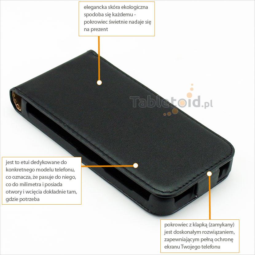 Klasyczne etui z klapką do telefonu Nokia Lumia 630, 635