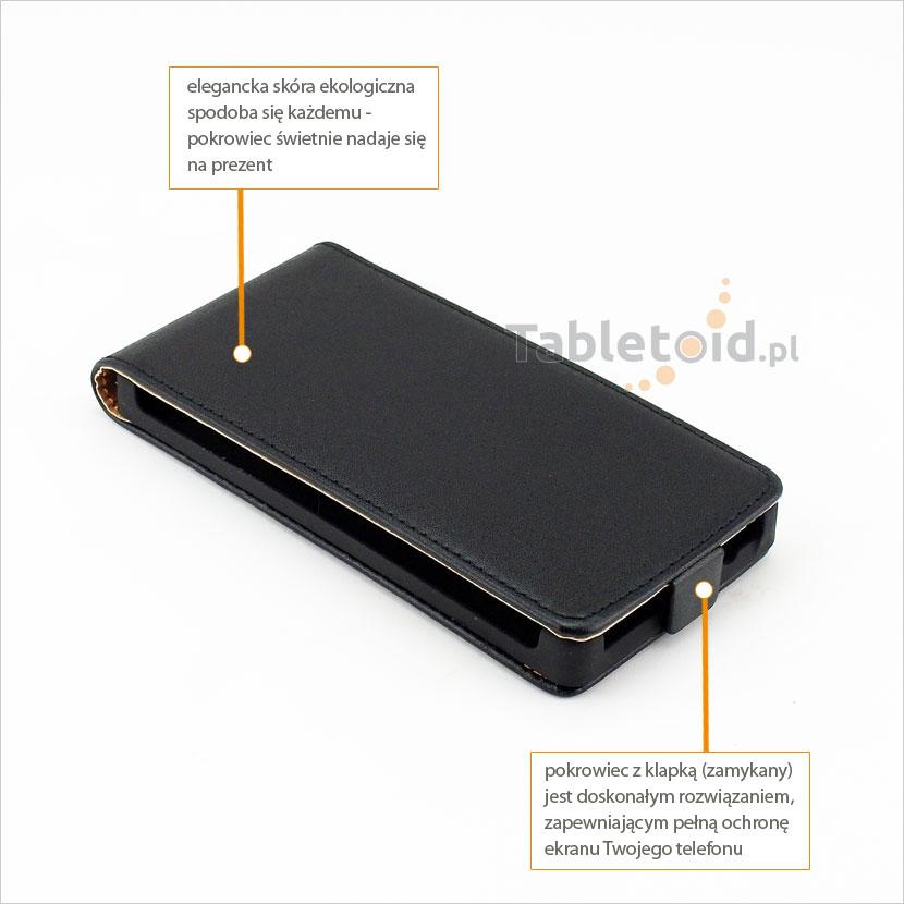 Klasyczny futerał do telefonu HTC Windows Phone 8S