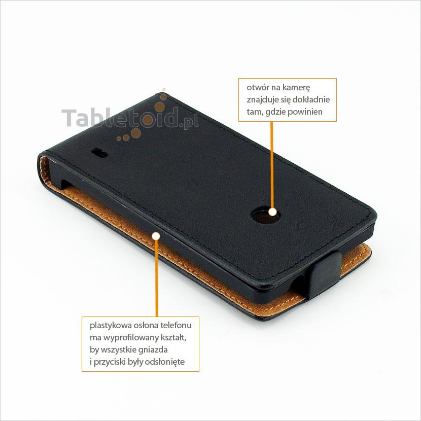 Pokrowiec pasujący do telefonu Nokia Lumia 525 RM-998
