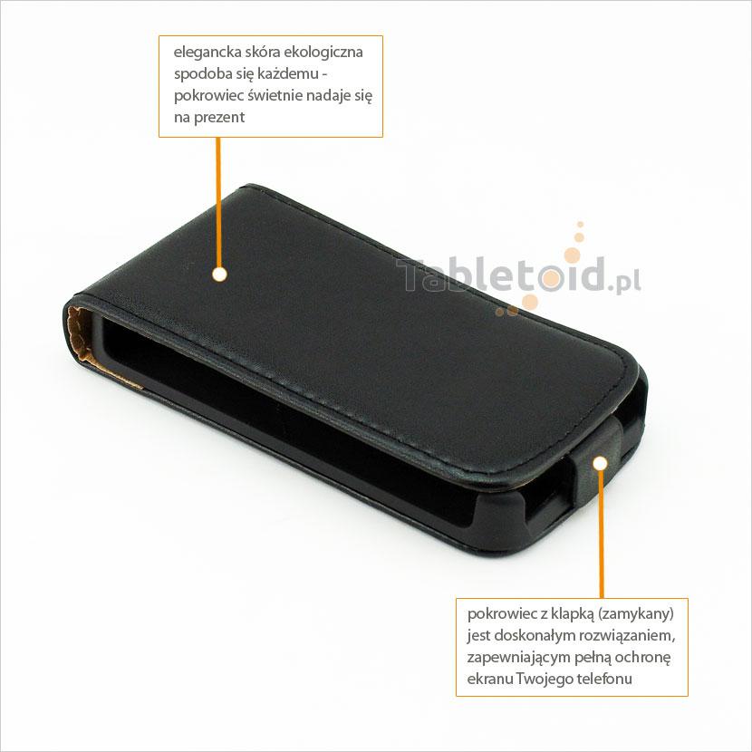 Elegancki pokrowiec pasujący do telefonu Nokia Lumia 530 RM-1018, RM-1020