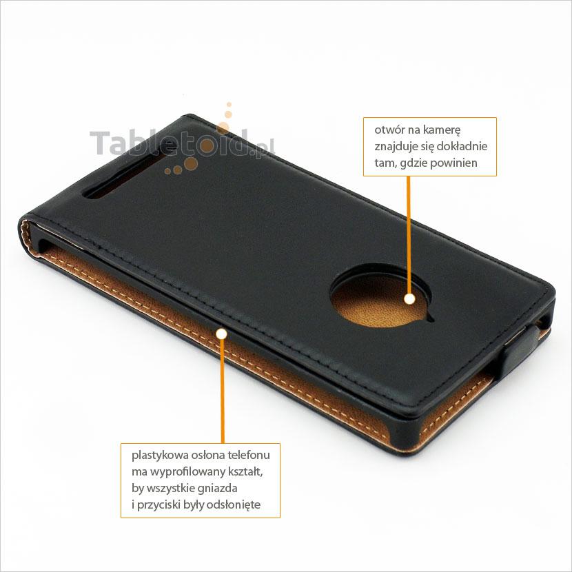 Etui z wyprofilowanymi otworami pasujące do telefonu Nokia Lumia 830