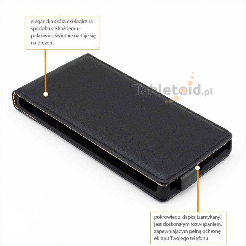 Eleganckie etui w dopasowane na komórkę Nokia Lumia 830