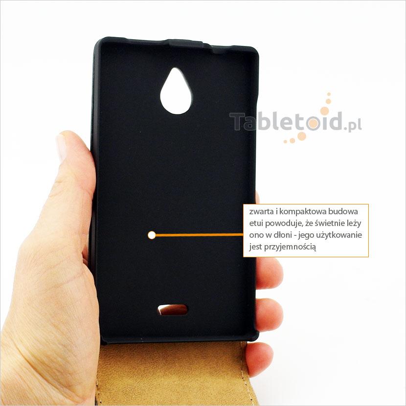 Pokrowiec do telefonu Nokia X2 świetnie leży w dłoni